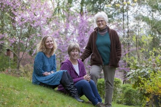 From left, prose writer Nina Baxley Rogers and poet Jane Curran are the Spring 2016 Editor's Choice winners, selected by Guest Editor Jeanne Howe, right.